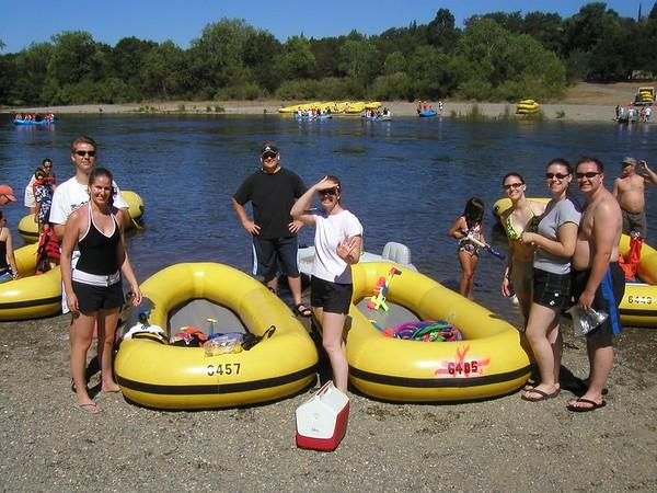 Rafting Down American River - July 23, 2005