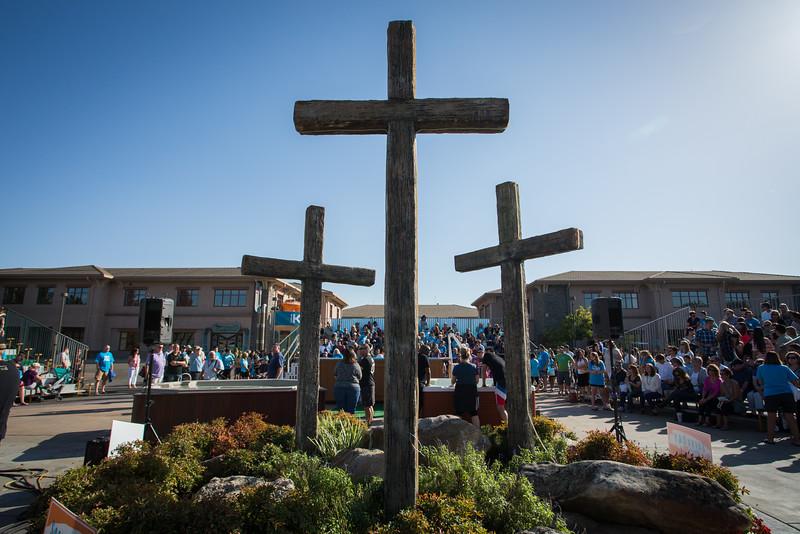 All Church baptism Oct 4 2015 - Left pool