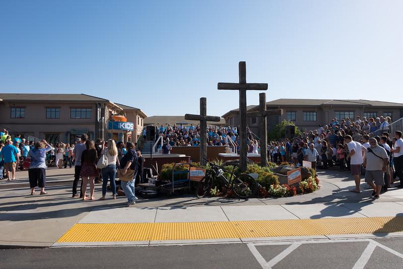 All church baptism Oct 4, 2015 - main pool