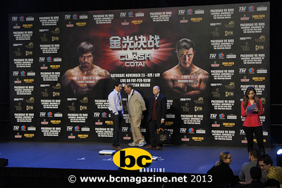 Clash in Cotai, Weigh-in @ Venetian - 23 November, 2013