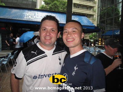 Spurs fans @ Insideout - 24 July 2013
