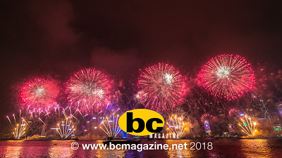 New Year's Fireworks @ Victoria Harbour - 31 December, 2017