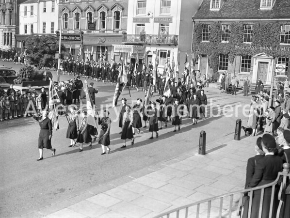 Guides & Brownies Banner Service, Oct 1954