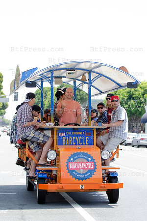 Beach BarCycle on Main Street