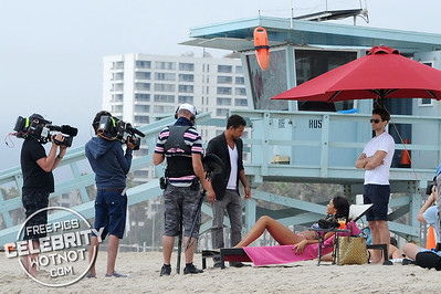 EXCLUSIVE: Nabilla Benattia Films Fiery Scenes In Two Bikinis For Hollywood Girls Series 3, LA
