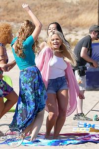 EXCLUSIVE: Alli Simpson Fashions Daisy Dukes Filming Music Video on Santa Monica Beach