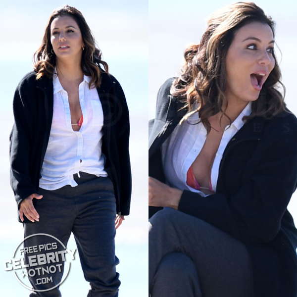 Eva Longoria Shows Off Bikini Top Filming Overboard With Anna Faris &  Eugenio Derbez!
