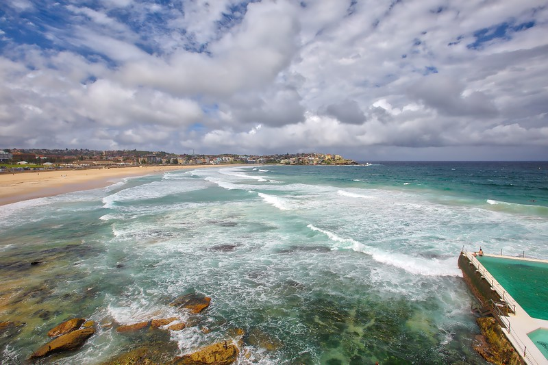 Bondi Beach - Green and Blue