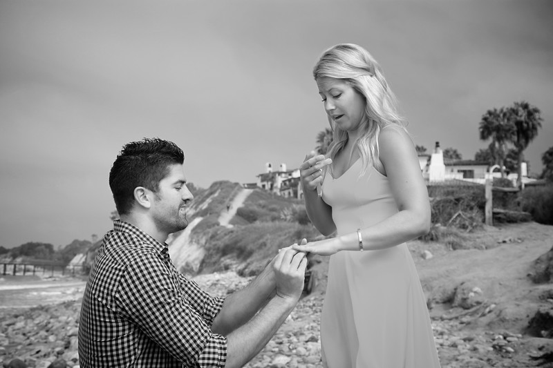 """Pop the Question"" Beach Engagement"