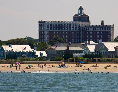 Cavalier hotel from ocean. Now on display @ the Beach Pub