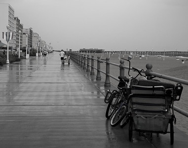 Rainy boardwalk . Now on display @ the Beach Pub