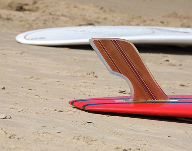 Red board fin. Now on display @ the Beach Pub