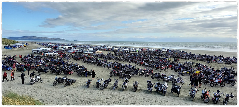 Burt Munro Beach Race Public Car Park Invercargill New Zealand.