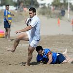 August 9, 2104 - 21st Denia Beach Rugby Tournament on Punta del Raset beach in Denia, Spain, sponsored by the Denia Rugby Club