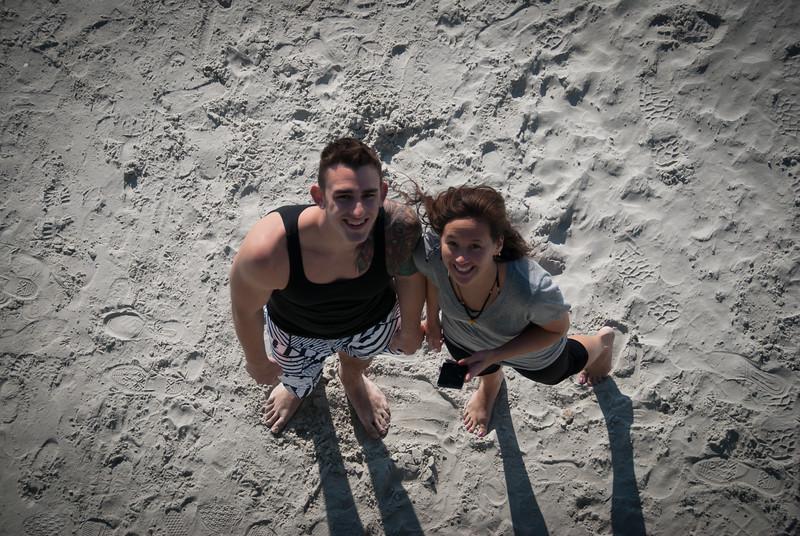 Lovely couple on the beach