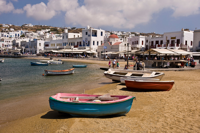 Mykonos Harbor, Greece (landscape)