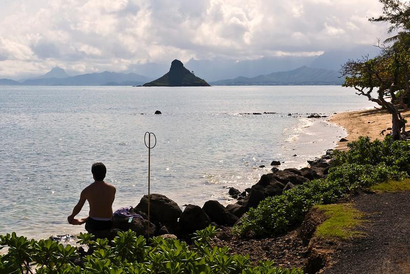Waiting for storm to pass.  Hawaii, USA
