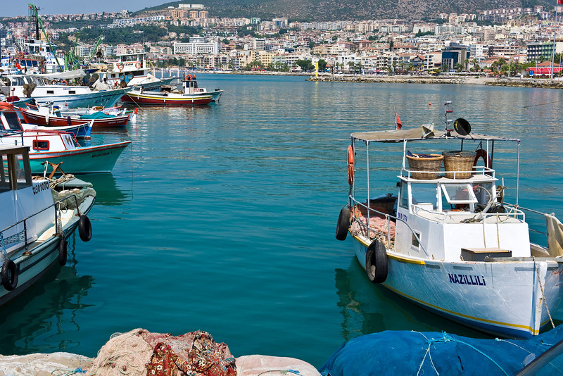 Kusadasi Harbor, Turkey (landscape)