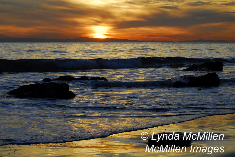 Sunset at Crystal Cove (landscape)