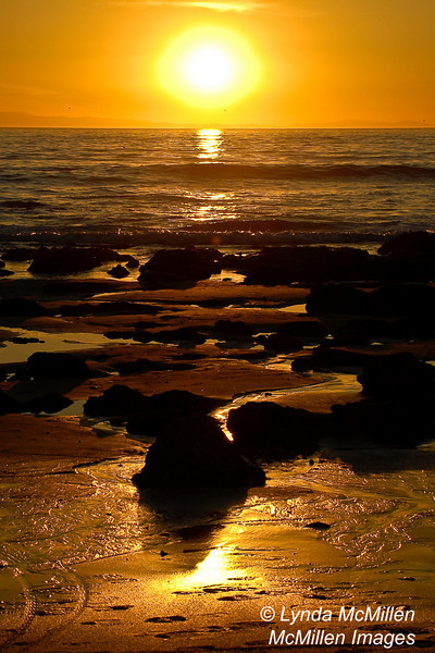 Sunset at Crystal Cove (portrait)