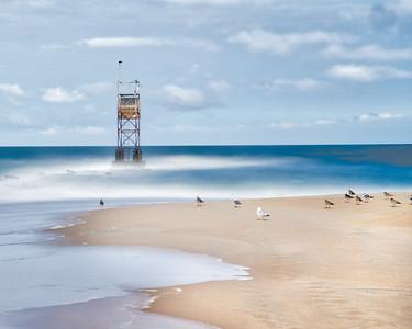 Beach Tower with Birds 5825