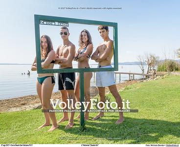 """durante 4º Memorial """"Claudio Giri"""", Torneo di Sand Volley 3x3 misto. presso Zocco Beach San Feliciano PG IT, 27 agosto 2017. Foto: Michele Benda [riferimento file: 2017-08-27/_7503726]"""