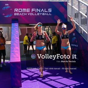 Klineman - Ross USA vs Zuccarelli - Traballi ITA [Pool B Women] FIVB Beachvolleyball World Tour Finals presso Foro Italico Rome IT, 5 settembre 2019. Foto: MariKa Torcivia per VolleyFoto.it [riferimento file: 2019-09-05/Cover5-2]
