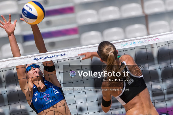 Menegatti - Orsi Toth ITA vs Ittlinger - Laboureur GER [Pool H Women] FIVB Beachvolleyball World Tour Finals presso Foro Italico Rome IT, 5 settembre 2019. Foto: MariKa Torcivia per VolleyFoto.it [riferimento file: 2019-09-05/Cover5-3]