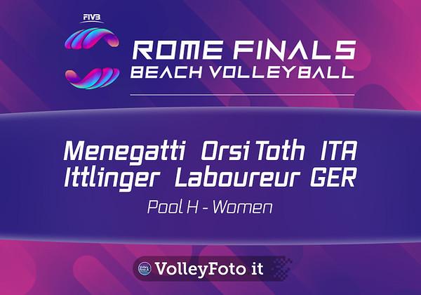 Menegatti - Orsi Toth ITA vs Ittlinger - Laboureur GER [Pool H Women] FIVB Beachvolleyball World Tour Finals presso Foro Italico Rome IT, 5 settembre 2019. Foto: MariKa Torcivia per VolleyFoto.it [riferimento file: 2019-09-05/Cover5-3]