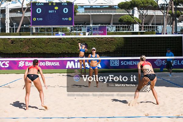 Pavan - Melissa CAN vs Puccinelli - Scampoli ITA [Pool A Women], FIVB Beachvolleyball World Tour Finals presso Foro Italico Rome IT, 5 settembre 2019. Foto: MariKa Torcivia per VolleyFoto.it [riferimento file: 2019-09-05/Cover5-1]