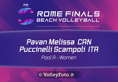 Pavan - Melissa CAN vs Puccinelli - Scampoli ITA [Pool A Women], FIVB Beachvolleyball World Tour Finals at Foro Italico Rome IT, 5 settembre 2019. Foto: MariKa Torcivia per VolleyFoto.it