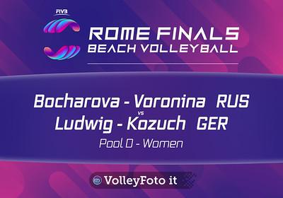 Bocharova - Voronina RUS vs Ludwig - Kozuch GER [Pool D Women], FIVB Beachvolleyball World Tour Finals presso Foro Italico Rome IT, 5 settembre 2019. Foto: MariKa Torcivia per VolleyFoto.it [riferimento file: 2019-09-05/Cover6-10K]