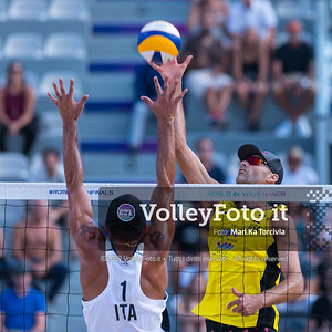 Rossi - Carambula  ITA vs Lucena - Dalhausser USA [Round 1 Men], FIVB Beachvolleyball World Tour Finals presso Foro Italico Rome IT, 6 settembre 2019. Foto: Michele Benda per VolleyFoto.it [riferimento file: 2019-09-06/Cover6-16K]