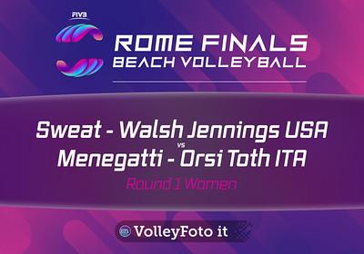 Sweat - Walsh Jennings USA vs Menegatti - Orsi Toth  ITA [Round 1 Women],