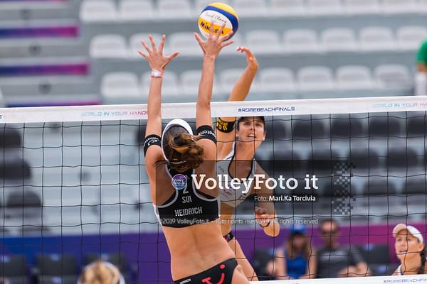 Liliana - Elsa ESP vs Heidrich - Vergé Dépré A. SUI [Round 3 Women], FIVB Beachvolleyball World Tour Finals presso Foro Italico Rome IT, 7 settembre 2019. Foto: MariKa Torcivia per VolleyFoto.it