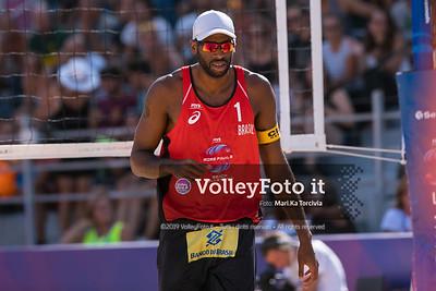 Mol A. - Sorum C. NOR vs Evandro - Bruno Schmidt BRA [Round 3 Men], FIVB Beachvolleyball World Tour Finals presso Foro Italico Rome IT, 7 settembre 2019. Foto: Michele Benda per VolleyFoto.it