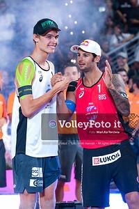 Awards Ceremony FIVB Beachvolleyball World Tour Finals presso Foro Italico Rome IT, 8 settembre 2019. Foto: MariKa Torcivia per VolleyFoto.it [riferimento file: 2019-09-08/Cover-Awards]