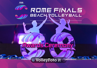 Awards Ceremony FIVB Beachvolleyball World Tour Finals presso Foro Italico Rome IT, 8 settembre 2019. Foto: MariKa Torcivia per VolleyFoto.it [riferimento file: 2019-09-08/Cover-Awards]