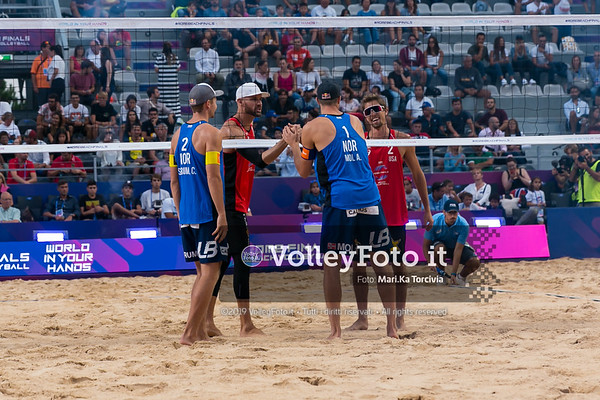 Mol A. - Sørum C. NOR vs Crabb Ta. - Gibb USA [Bronze Medal Match MEN], FIVB Beachvolleyball World Tour Finals presso Foro Italico Rome IT, 8 settembre 2019. Foto: MariKa Torcivia per VolleyFoto.it [riferimento file: 2019-09-08/Cover-F3M]