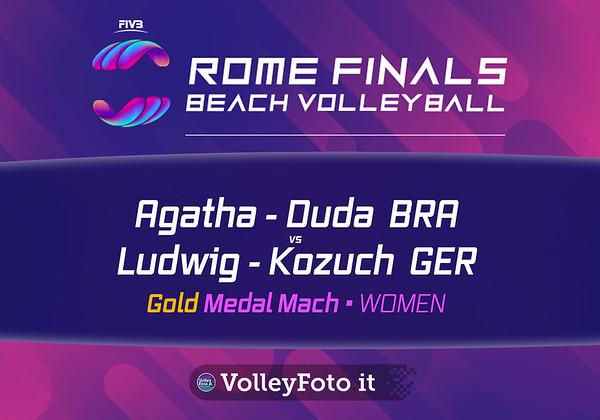Agatha - Duda BRA vs Ludwig - Kozuch GER [Gold Medal Match WOMEN], FIVB Beachvolleyball World Tour Finals presso Foro Italico Rome IT, 8 settembre 2019. Foto: MariKa Torcivia per VolleyFoto.it [riferimento file: 2019-09-08/Cover-F1W]