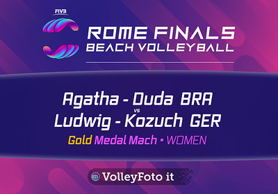 Agatha - Duda BRA vs Ludwig - Kozuch GER [Gold Medal Match WOMEN], FIVB Beachvolleyball World Tour Finals presso Foro Italico Rome IT, 8 settembre 2019. Foto: MariKa Torcivia per VolleyFoto.it [riferimento file: 2019-09-08/Cover-F1W]