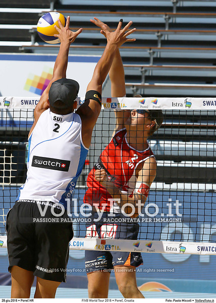 "FIVB World Tour 2016 • Swatch Beach Volleyball Major Series  POREČ, Croatia • Jun 28 • FOTO: <a class=""vf-fotografo"" href=""http://www.volleyfoto.it/About"">Paolo Miccoli</a> © 2016 Volleyfoto.it, all rights reserved [id:20160628.I56A0021]"