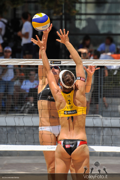 Ross-Kessy USA | Liliana-Baquerizo ESP > FIVB Beach Volley World Tour | Grand Slam Roma 2013