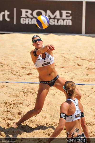 Holtwick-Semmler GER | Zumkehr-Heidrich SUI > FIVB Beach Volley World Tour | Grand Slam Roma 2013