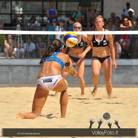 Marta Menegatti ITA > Circolari-Menegatti ITA vs Borger-Büthe GER | FIVB Beach Volleyball World Tour | Grand Slam Roma 2013