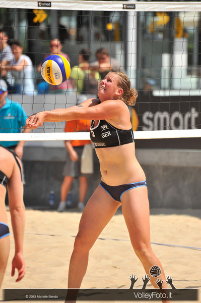 Britta Büthe GER > Circolari-Menegatti ITA vs Borger-Büthe GER | FIVB Beach Volleyball World Tour | Grand Slam Roma 2013