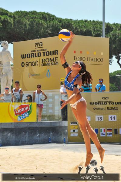 Marta Menegatti ITA > FIVB Beach Volleyball World Tour | Rome Grand Slam 2013