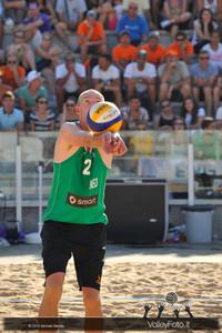 Richard Schuil [NED] bagher > FIVB Beach Volleyball World Tour | Rome Grand Slam 2013
