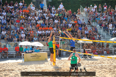 il campo 1 del Foro Italico durantee la partita ITA-NED > Nicolai-Lupo ITA vs Nummerdor-Schuil NED | FIVB Beach Volleyball World Tour | Rome Grand Slam 2013