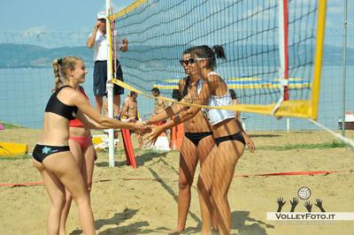 """Beach Volley, Femminile, Finale, Lago Trasimeno, Umbria - Torneo Beach Volley dell'Umbria 2013, """"La Marangola Sports Beach"""" Castiglione del Lago PG"""